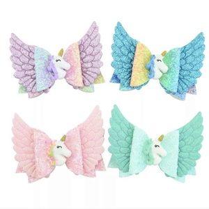 🦄 🦄 unicorn 🦄🦄 Glitter Hair Clips